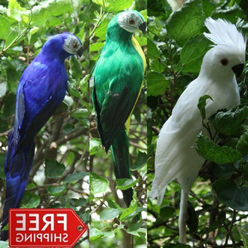 handmade macaw parrot animal bird lawn figurine