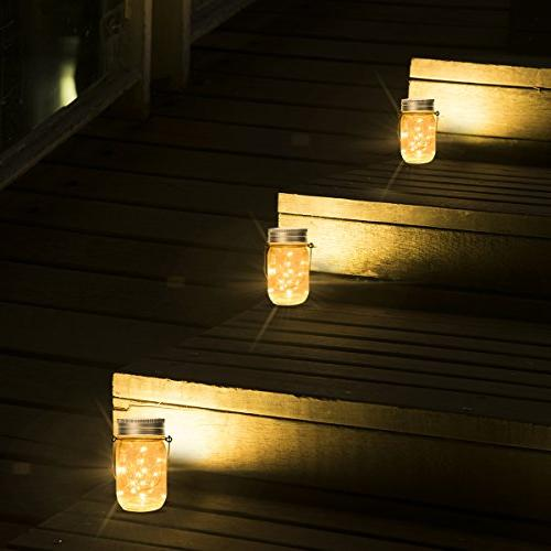 GIGALUMI Pack 15 Led String Fairy Solar Laterns Table and Jars Great Patio Garden, Yard Lawn.