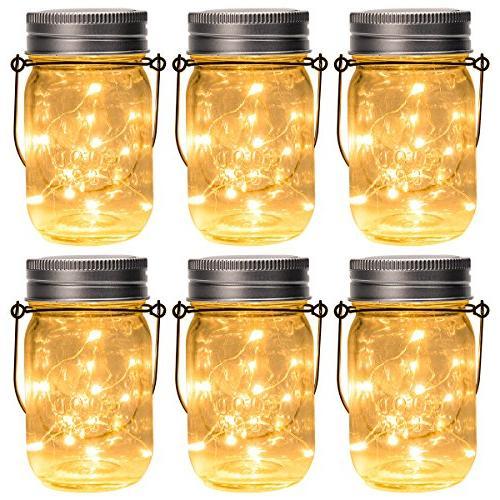 hanging solar mason jar lid