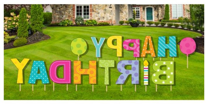 Happy Birthday Lawn/Yard Letter Party Decoration Sign 15PCS
