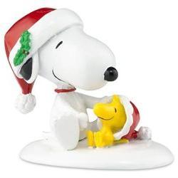 Happy Holidays Snoopy & Woodstock Department 56 Figurine