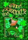 Happy Leprechaun St. Patrick's Day Holiday Shamrocks Clover