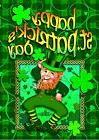 Happy Leprechaun St. Patrick's Day Holiday Shamrocks Clover