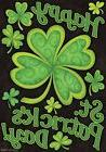 Happy St. Patrick's Day Garden Flag Holiday Briarwood Lane 1
