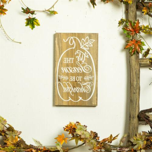 Glitzhome Harvest Solid Wooden Wall Yard Decors
