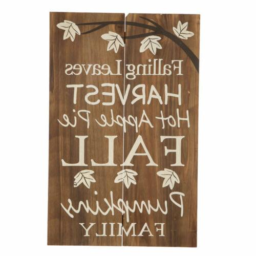 Glitzhome Harvest Solid Wooden Sign Yard Stake