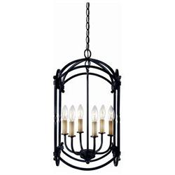 Hastings 6 Light Pendant in Rust Finish WI6140842