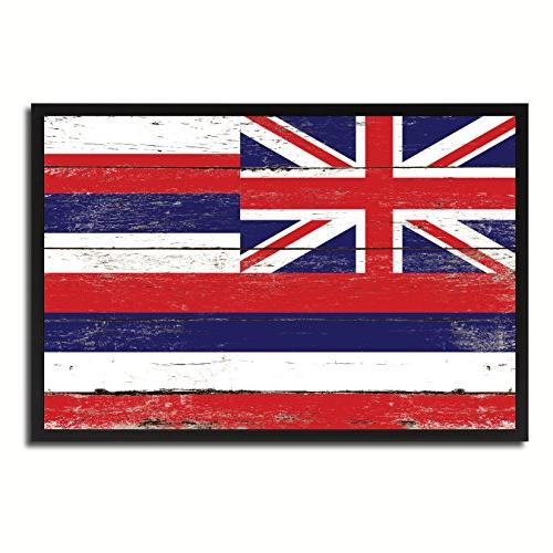 hawaii state flag canvas print