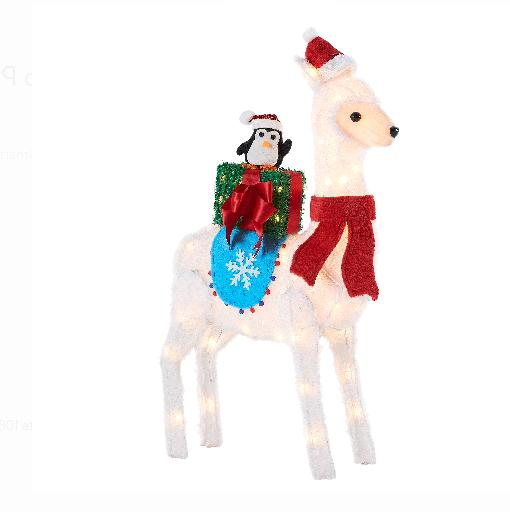 "Holiday Llama Penguin Xmas Gift Outdoor Christmas 39"" Lighte"