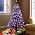 Holiday Time Pre-Lit 4' Purple Artificial Christmas Tree 150