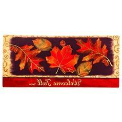 Home & Garden Brilliant Autumn Insert Mat Welcome Fall Maple