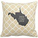 """Home Sweet Home West Virginia Pillow Case 18"""" * 18"""""""