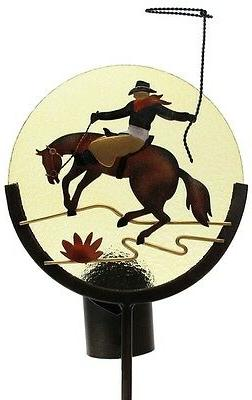 Horse Silhouette Candle Holder Garden Stake Outdoor Yard Dec