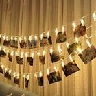 HQ 20 Photo Clips LED String Fairy Lights Magnolian Wedding