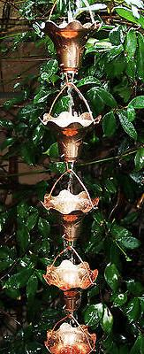 Stanwood Rain Chain - Copper Rain Chain Hummingbird and Flow