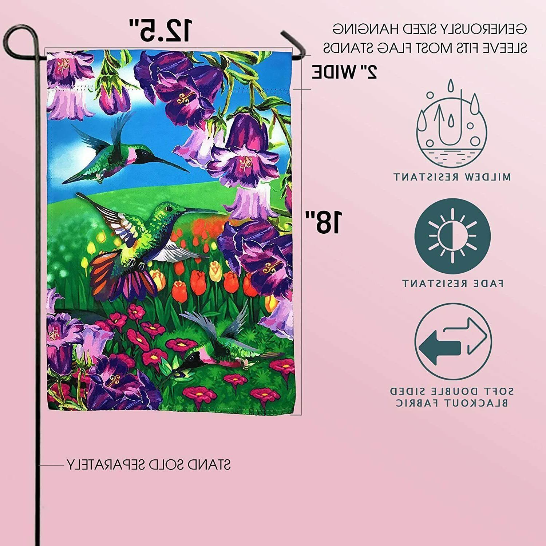 "Hummingbird Garden Yard Decoration; 12"" x Double"