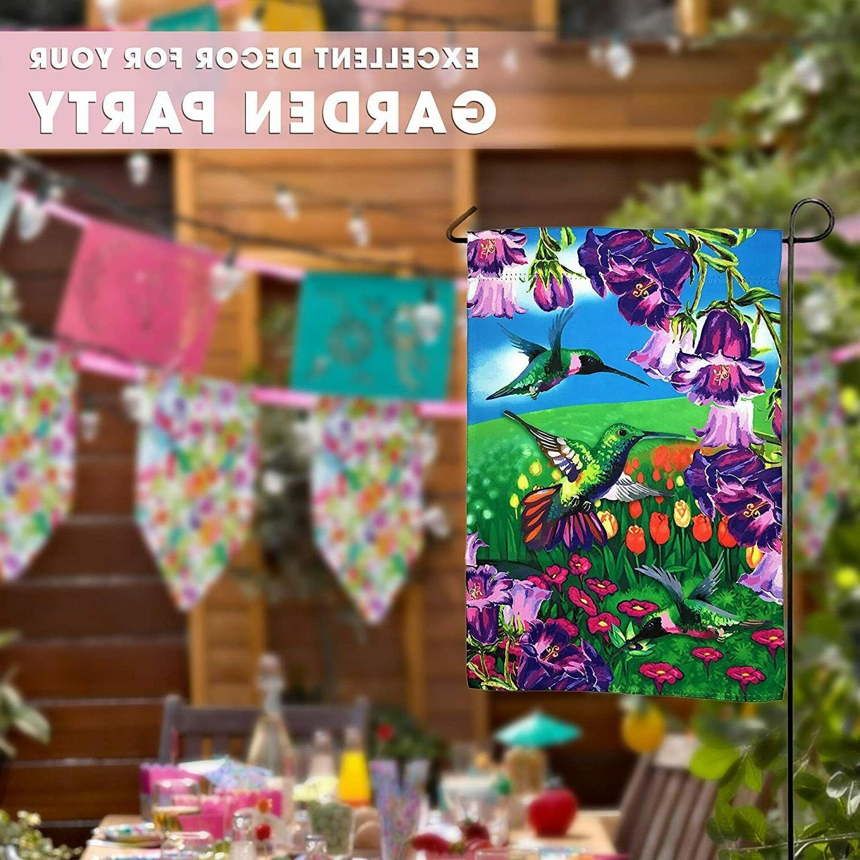 Hummingbird Garden Yard Decoration; Double