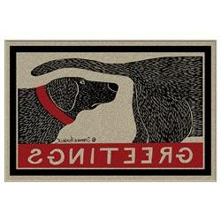 Humorous Dog Sniffing Welcome Doormat Offers Unique Greeting