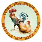 I Rule The Rooster Farm Animal Metal Sign Country Kitchen Wa