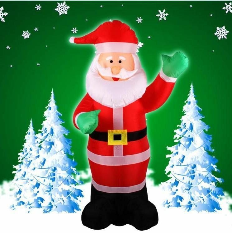 Inflatable Christmas Santa Claus Yard Airblown Decorations H