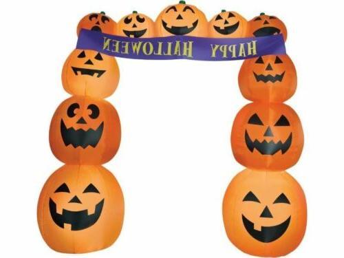 inflatable pumpkin archway airblown banner yard halloween