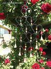 Iron Heart Windchime Recycled Metal Rustic Bells Beads Garde