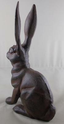 Iron Rabbit Garden Figure Lawn Statue Rabbits Outdoor Decor