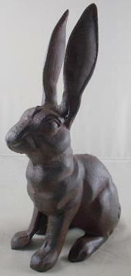 Iron Rabbit Figure Lawn Statue Rabbits