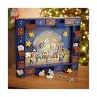 Kurt Adler J3767 Wooden Nativity Advent Calendar with 24 Mag