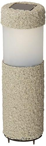 IdeaWorks JB7381 Stone Pillar Lights , Grey/Black