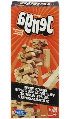 jenga classic game by stacking wooden tower