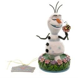 Jim Shore Disney Traditions Frozen Olaf with Flowers Figurin