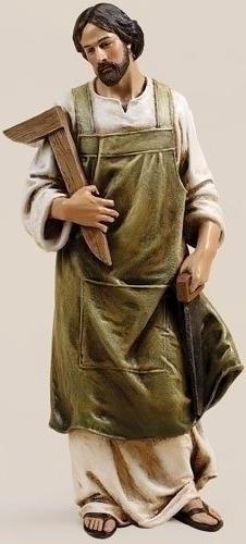 "Roman, 10"" ST JOSEPH THE WORKER FIG"