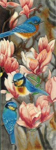 Continental Art Center KD-085 6 by 16-Inch Blue Bird with Ma