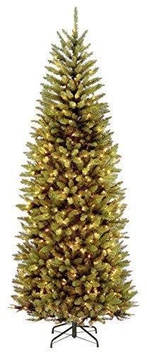National Tree 7.5 Foot Kingswood Slim Fir Tree with 450 Dual