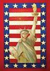 Lady Liberty Patriotic House Flag Fourth of July Statue of L