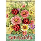 Ladybug Zinnia Flower Summer Spring Floral Double Sided Hous