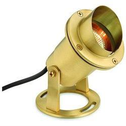 Landscape Lighting Submersible Spot Light in Brass