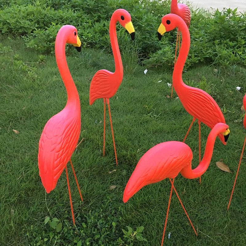 1Pcs PE Lifelike Artificial <font><b>Flamingo</b></font> Orn
