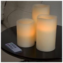 Lavish Home 3 Piece LED Flameless Candle Set Battery Operate