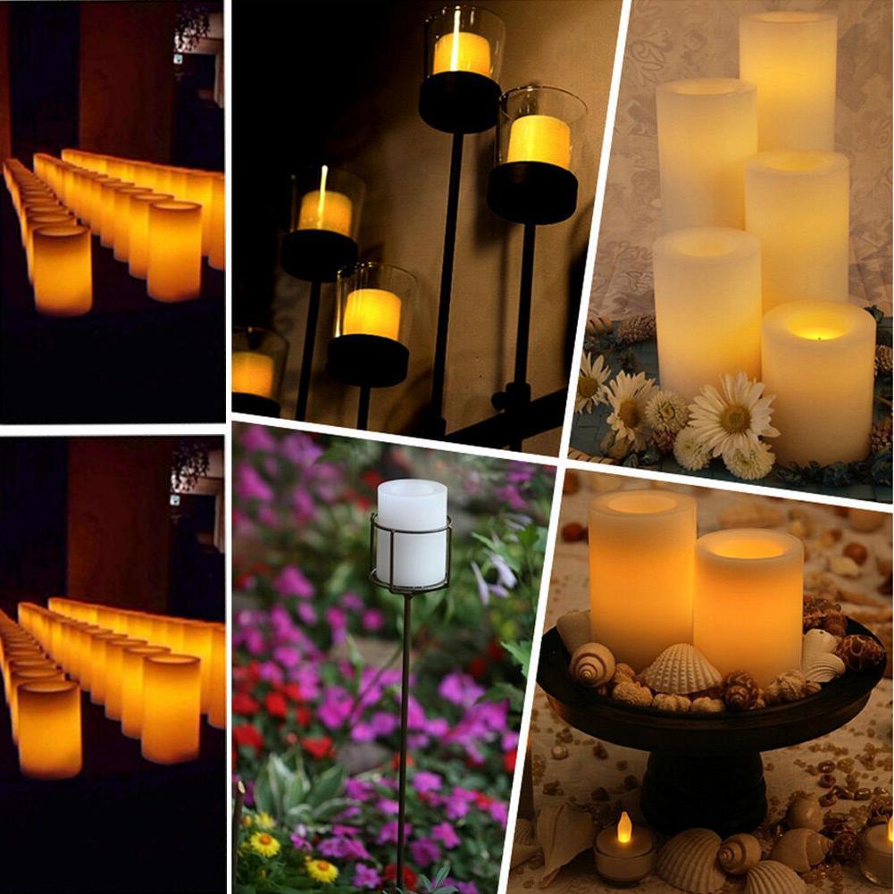 Solar LED Candle Flickering Home Lamp Yard Landscape