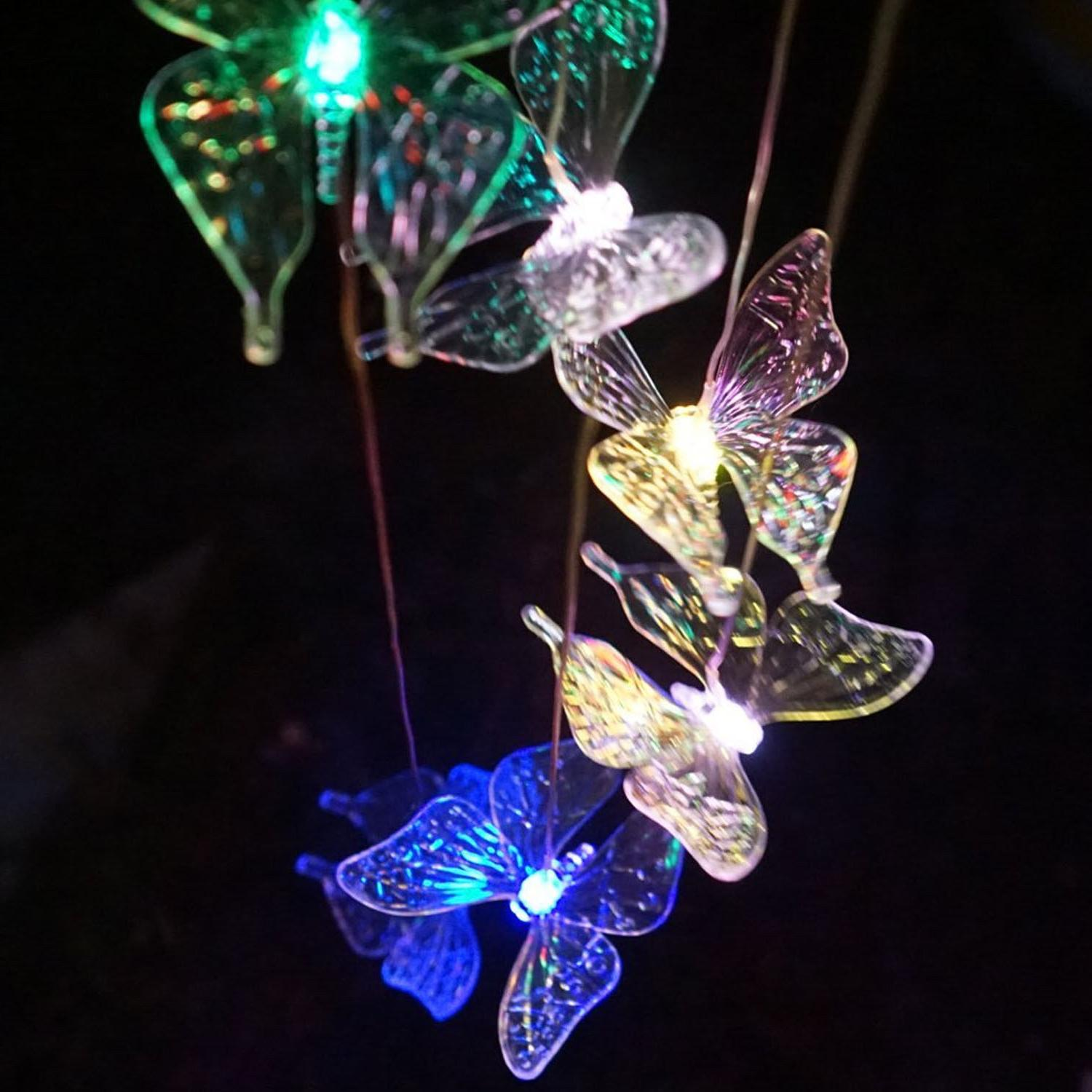 LED Color-Changing Wind Chimes Yard Home Garden Decor US