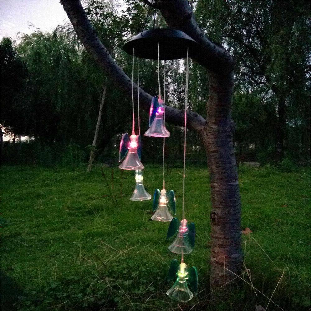 LED Power Wind Chimes Garden