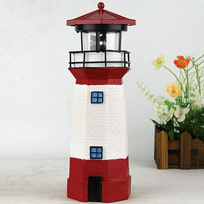 LED Lighthouse Yard Patio Outdoor