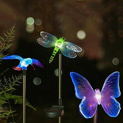 Garden Butterfly Birds LED Solar Powered Lights Outdoor Yard