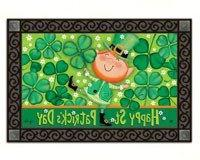 Leprechaun Doormat St. Patrick's Day Indoor Outdoor MatMates