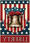 "Liberty Bell Patriotic House Flag Fourth of July 28"" x 40"" B"