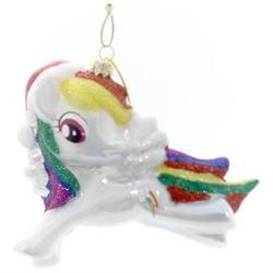 Licensed My Little Pony Ornament Rainbow Santa Hat, 3.50 in.