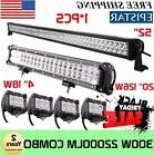 """52Inch LED Light Bar Combo + 20"""" + 4"""" CREE PODS OFFROAD SUV"""