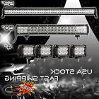 """52Inch LED Light Bar Combo + 20in +4"""" CREE PODS OFFROAD SUV"""